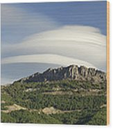 Lenticular Clouds Over Dornajo Mountain Wood Print