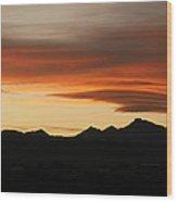 Lenticular Clouds Over Longs Peak 2 Wood Print