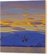 Lenticular Clouds Wood Print