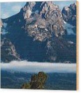 Lenticular Peak Wood Print