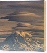 Lenticular Rainier Wood Print by Chris Anderson