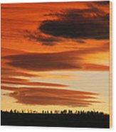 Lenticular Sunset 1 Wood Print