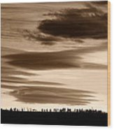Lenticular Sunset 2 Wood Print