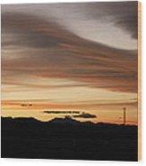 Lenticular Sunset Wood Print