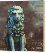 Leo Celestial Wood Print