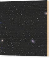 Leo I Galaxy Cluster Showing Messier Wood Print