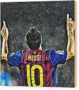 Leo Messi Poster Art Wood Print