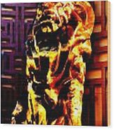 Leo The Lion Wood Print