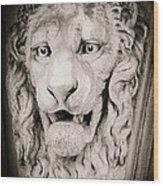 Leo Wood Print by Tony Grider