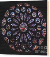 Leon Spain Cathedral Rosette Wood Print