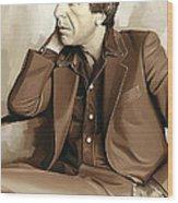Leonard Cohen Artwork 2 Wood Print