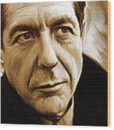Leonard Cohen Artwork Wood Print