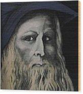 Leonardo Da Vince Wood Print