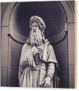 Leonardo Da Vinci Wood Print
