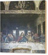 Leonardo Da Vinci's Last Supper Wood Print