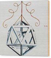 Leonardo Icosahedron Wood Print