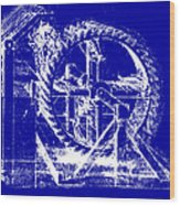 Leonardo Machine Blueprint Wood Print
