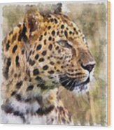 Leopard 7 Wood Print