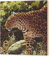 Leopard Painting - On The Prowl Wood Print