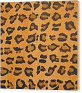 Leopard Print Hand Painted Leopard Print  Wood Print