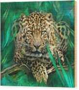 Leopard - Spirit Of Empowerment Wood Print