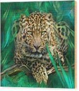 Leopard - Spirit Of Empowerment Wood Print