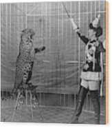 Leopard Trainer, C1906 Wood Print
