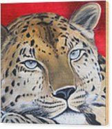 Leopardo Wood Print