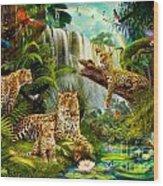 Leopards Wood Print