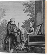 Leopold Mozart And His Two Children Wood Print