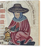 Leper With Bell Wood Print