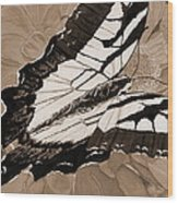 Lepidoptery - Sepia Wood Print