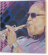 Leroi Moore-op Art Series Wood Print