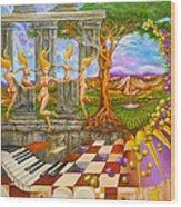 Les Amours Hallucines De La Vigne Et Du Pin Parasol Wood Print
