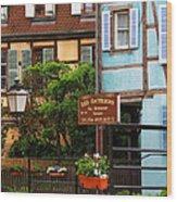Les Bateliers In Colmar France Wood Print