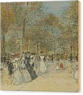 Les Champs-elysees Wood Print