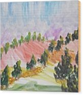 Les Chypres Wood Print