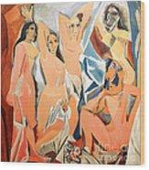 Les Demoiselles D'avignon Picasso Wood Print