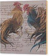 Les Deux Coqs Wood Print