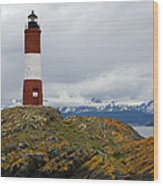 Les Eclaireurs Lighthouse Southern Patagonia Wood Print