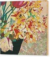 Les Fleur Wood Print
