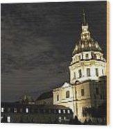 Les Invalides - Eglise Du Dome At Night - 2 Wood Print