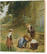 Les Jeunes Jardiniers Wood Print