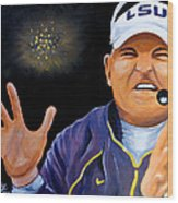 Les Miles Clapping Wood Print by Terry J Marks Sr