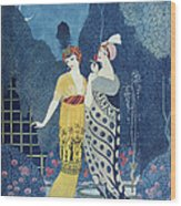 Les Modes Wood Print by Georges Barbier