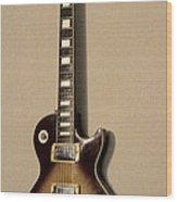 Les Paul Electric Guitar Wood Print
