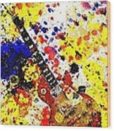 Les Paul Retro Abstract Wood Print