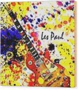 Les Paul Retro Wood Print
