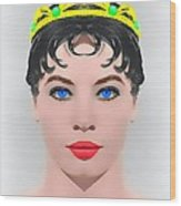 Leslie Caron Alias In The Glass Slipper Wood Print by Art Cinema Gallery