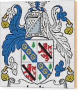 Leslie Coat Of Arms Irish Wood Print
